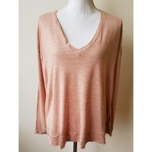 Madewell All Around Pink Long Sleeve  Tee